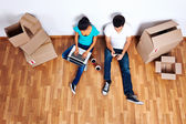 Overhead view moving in — Stock Photo