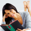Leisure book woman — Stock Photo