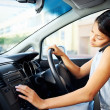 Driving phone woman — Stockfoto #28422993