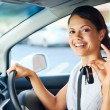New car woman — Stock Photo