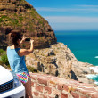 Scenic viewpoint woman — Stock Photo