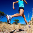 Fast running athlete — Stock Photo
