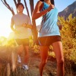 Stock Photo: Healthy trail running