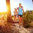 Healthy trail running — Stock Photo