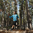 Forest running woman — Stock Photo #28423767
