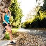 Relaxing sport woman — Stock Photo