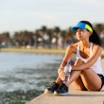 Portrait of resting runner — Stock Photo #28424277