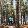 Forest running woman — Stock Photo