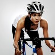 Road racing bicycle woman — Stock Photo #28424733