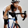 Road racing bicycle woman — Stock Photo #28424735