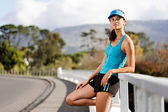 Resting pretty runner — Stock Photo
