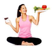 Femme de manger saine — Photo