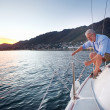 Sailing mature man — Stock Photo
