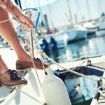 Постер, плакат: Sail boat yacht mooring