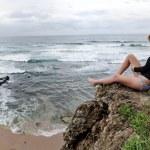 Surfer girl lifestyle panoramic — Stock Photo #28452765