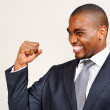 Black businessman expression — Foto de Stock