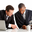 Exchanging business knowledge — Stock Photo