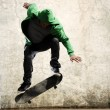 Grunge ollie — Stock Photo
