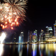 Singapore city skyline at night — Stock Photo #28453635