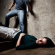 Violence against woman, domestic abuse concept  — Stockfoto