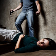 Violence against woman, domestic abuse concept — Stock Photo #28453821