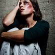 Used and abused domestic violence concept — Stock Photo #28453871