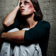 Stock Photo: Used and abused domestic violence concept
