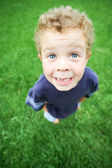 Cute Kid from above — Stock Photo