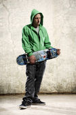 Cool dude skateboarder — Stock Photo
