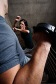 Domestic violence at home — Stock Photo