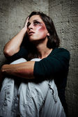 Used and abused domestic violence concept — Stock Photo