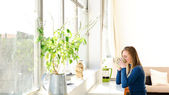 Woman at home — Stock Photo