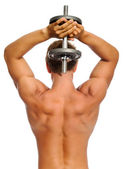 Muscular back of athelete — Stock Photo