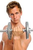 Toned man working out — Stock Photo