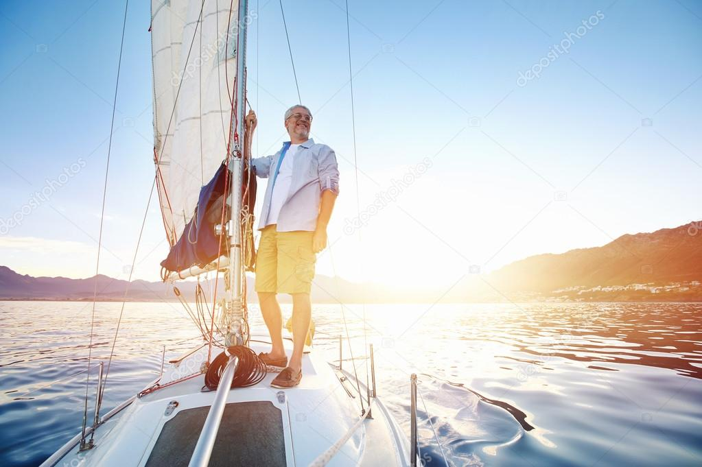 Sailing Boat Sunrise Sunrise Sailing Man on Boat in