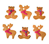 Decorated homemade gingerbread cookies — Stock Photo