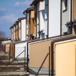 Suburb houses in a row — Stock Photo