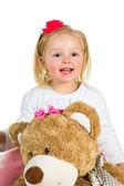 Cute preschool girl isolated on white — Stock Photo