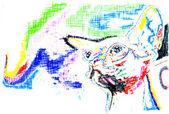 Gato sphynx abstracto — Foto de Stock