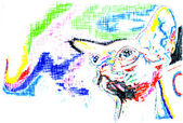 抽象的なスフィンクス猫 — ストック写真