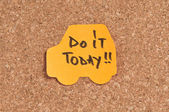 Do It Today — Stock Photo