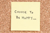 Choose To be Happy — Stock Photo