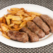 Romanian meat rolls with potatoes — Stock Photo