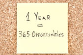 """1 Year 365 Opportunities"" — Stock Photo"