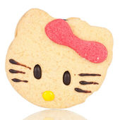 Cat shaped cookie — Stock Photo