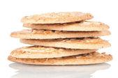 Pile of integral biscuits — Zdjęcie stockowe