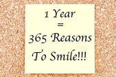 1 Year 365 Reasons To Smile — Stock Photo
