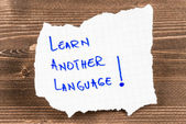Learn Another Language — Stock Photo