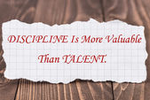 Discipline Is More Valuable Than Talent — Foto Stock