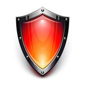 Red security shield — Stock Vector